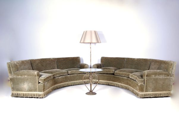 vintage italian curved sofas set of 2 2 - Curved Sofas