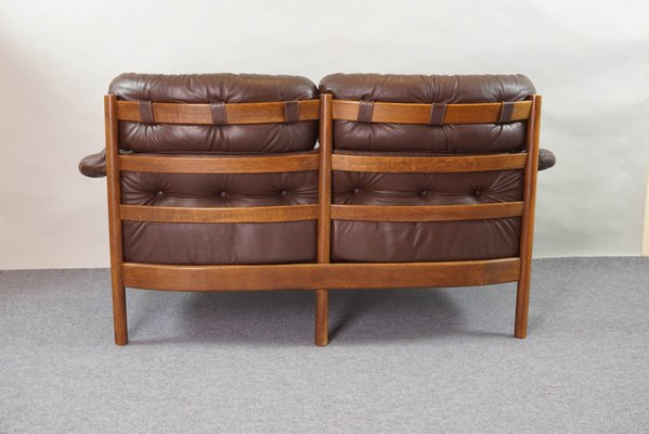 Vintage Tufted Leather Sofa By Arne Norell For Coja 3