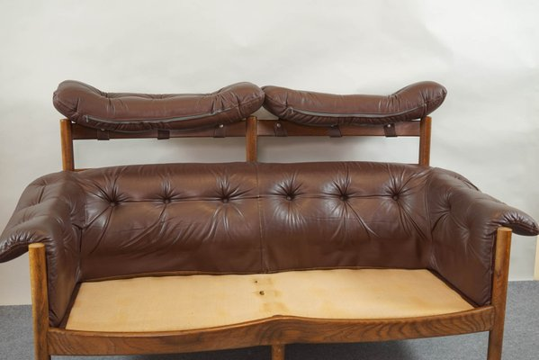 Vintage Tufted Leather Sofa By Arne Norell For Coja 9