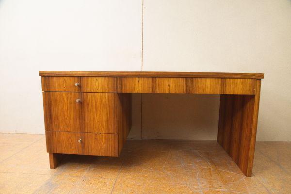 German Desk With Rosewood Veneer And Drawers 1970s 1