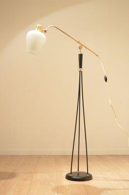 Mid Century Scandinavian Adjustable Black Metal Floor Lamp 1