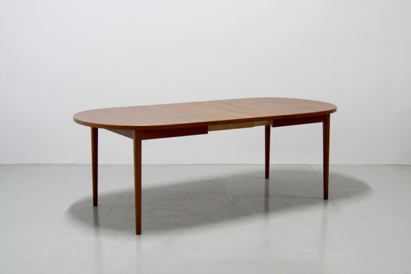 Vintage Double Extendable Teak Dining Table By Nils Jonsson For Troeds 2