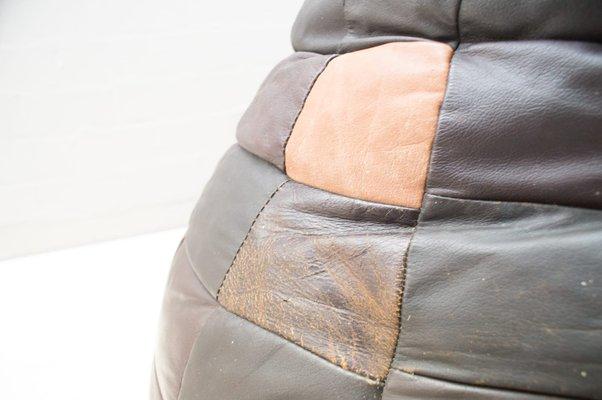 Pouf in pelle patchwork di de Sede, anni \'60 in vendita su Pamono