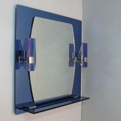 Spiegel Mit Lampen Und Ablage, 1970er 1