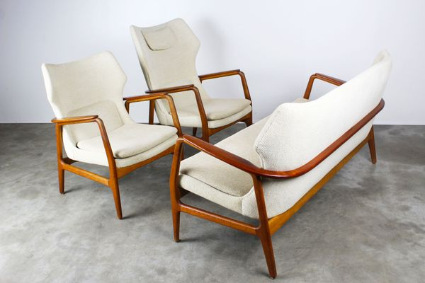 MidCentury Wingback Living Room Set by Aksel Bender Madsen for