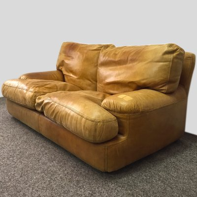 Leather Sofa With Feather Upholstery, 1970s 2