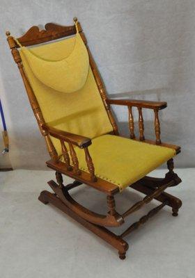Scandinavian Vintage Wooden Rocking Chair, 1950s 2
