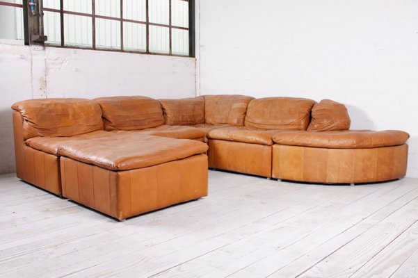 Modular Patchwork Sofa In Leather, 1970s 2