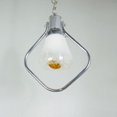 Vintage Italian Glass Pendant Light 2