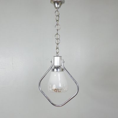 Vintage Italian Glass Pendant Light 1