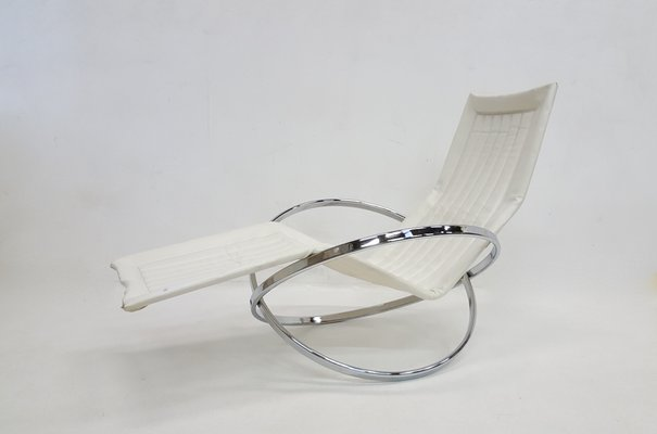 Chaise longue pieghevole Jet Star vintage di Roger Lecal in vendita ...