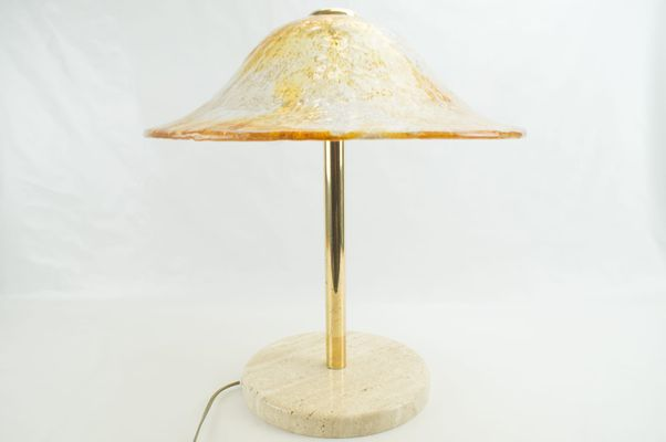 Murano glass brass table lamp from temde 1960s for sale at pamono murano glass brass table lamp from temde aloadofball Choice Image