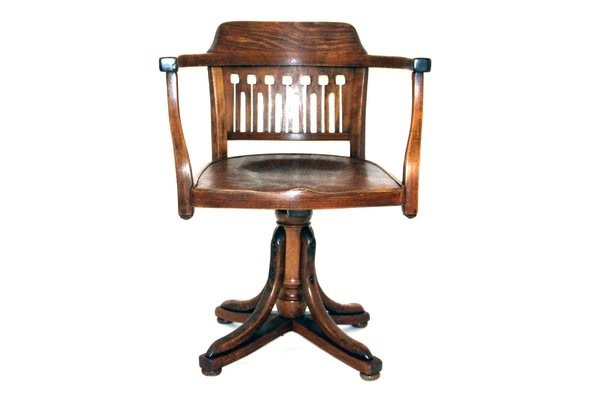 Antique Swivel Chair by Otto Wagner for J&J Kohn, ... - Antique Swivel Chair By Otto Wagner For J&J Kohn, 1905 For Sale At