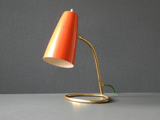 Mid century modern italian brass table lamp 1