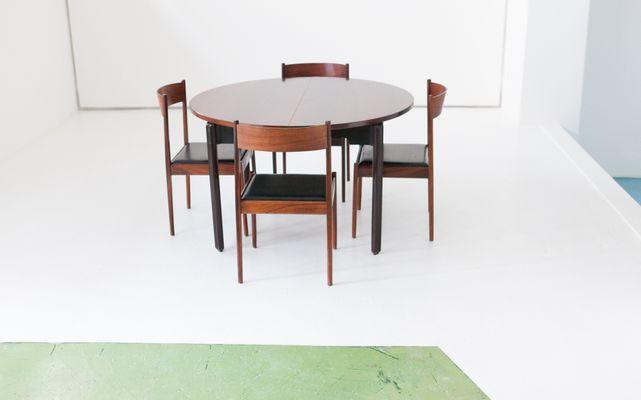 Tavolo da pranzo con 4 sedie in palissandro di Stildomus, anni 60 ...