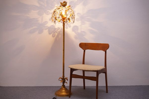 Vintage hollywood regency gilt floor lamp 6