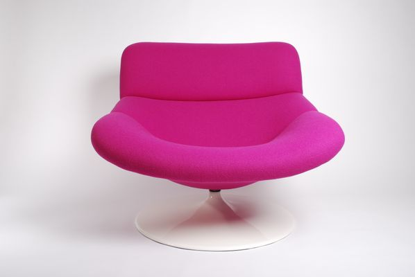Vintage Violet F518 Lounge Swivel Chair by Geoffrey Harcourt for ...