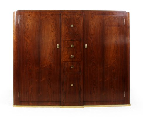 Perfect Oak U0026 Rosewood Veneer Hall Cabinet, 1930s 1
