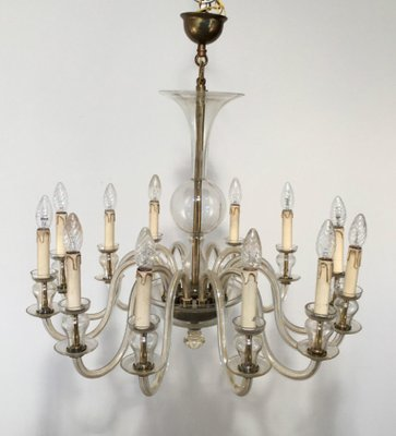 Vintage Murano Glass Chandelier 1970s 1
