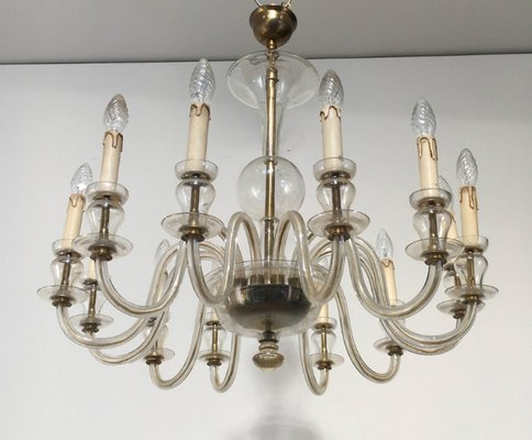 Vintage Murano Glass Chandelier 1970s 2