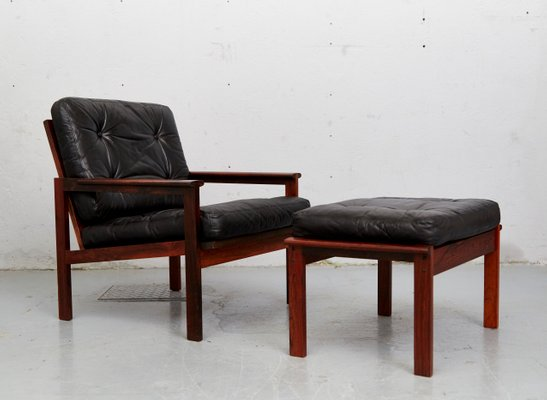 Model Capella Easy Chair U0026 Ottoman Set By Illum Wikkelsø For Niels  Eilersen, ...