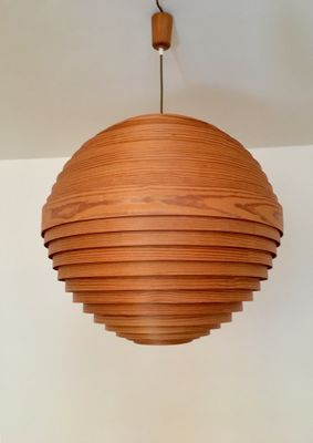 Large wooden pendant lamp 1960s for sale at pamono large wooden pendant lamp 1960s 1 mozeypictures Images