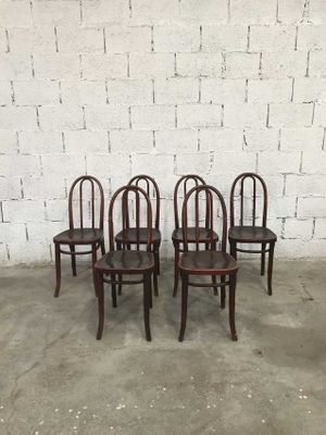 Great Vintage Bistro Chairs From Thonet, Set Of 6 2