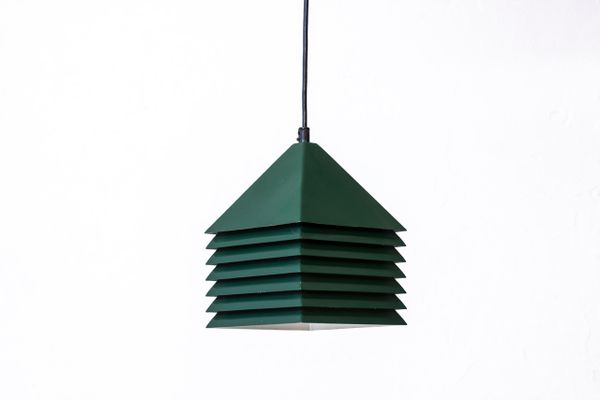 Swedish forest green metal pendant lamp by hans agne jakobsson swedish forest green metal pendant lamp by hans agne jakobsson 1960s 1 aloadofball Images