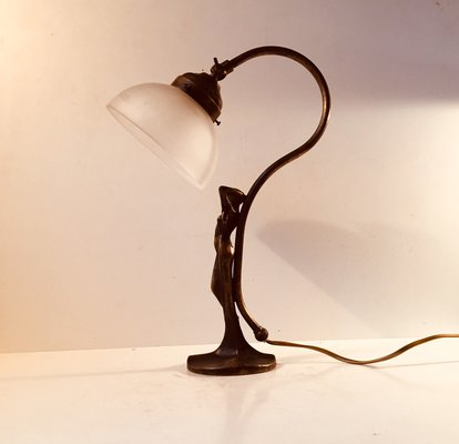 French Art Deco Bronze Table Lamp 1