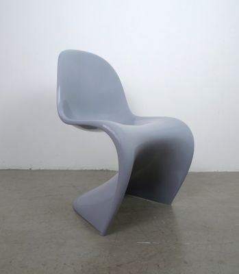Grey Panton Chair Classic by Verner Panton for Vitra, 1998 for sale ...