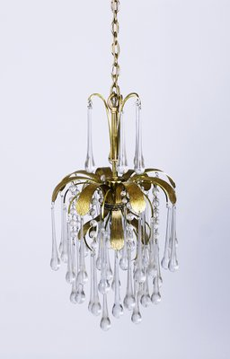 Vintage Murano Glass Tear Drop Pendant Light From Palwa 1970s 1