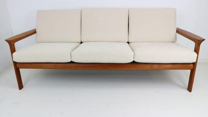Danish Teak Three Seater Sofa By Sven Ellekaer For Komfort, 1960s 1