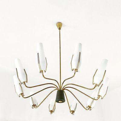Vintage brass chandelier from stilnovo en venta en pamono vintage brass chandelier from stilnovo imagen 1 aloadofball Images
