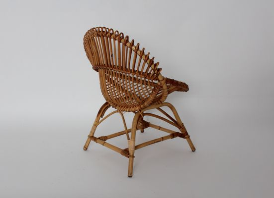 Mid Century French Rattan Chair, 1960s 2
