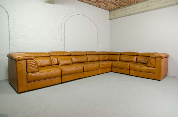 Captivating Mid Century Modular Patchwork Sofa By Laauser, 1970s 2