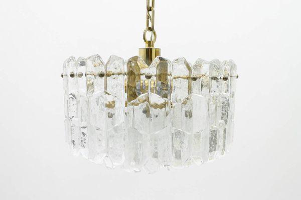 Kronleuchter Glas kronleuchter aus messing glas kalmar 1960er bei pamono kaufen