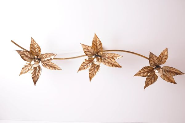 Vintage flower ceiling lamp from massive for sale at pamono