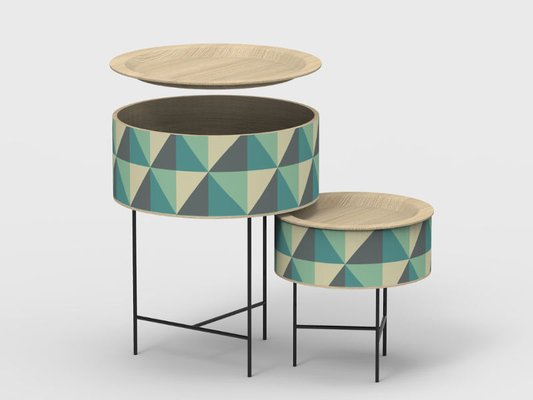 Tabouret Nesting Side Tables By Zpstudio For Dialetto Design 1