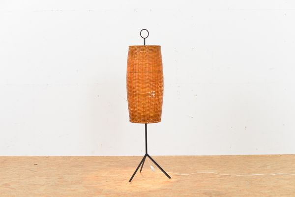 Mid century rattan floor lamp for sale at pamono mid century rattan floor lamp 1 mozeypictures Choice Image