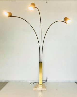 3 light floor lamp in brass with marble base 1960s for sale at pamono 3 light floor lamp in brass with marble base 1960s 3 mozeypictures Choice Image