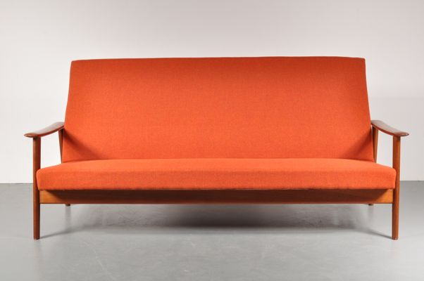 Scandinavian 3 Seater Sofa, 1950s 1