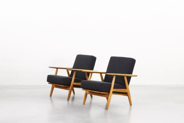 240 Cigar Lounge Chairs By Hans J. Wegner For Getama, 1960s, Set Of