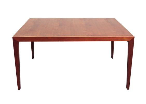 Tavolo da pranzo allungabile in teak, anni \'60 in vendita su Pamono