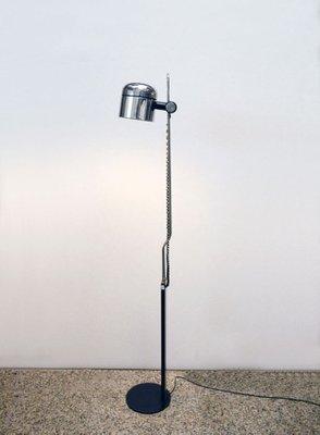 Stehlampe mit Verstellbarem Verchromten Schirm von Philips, 1970er ...