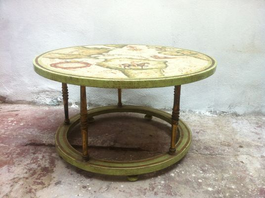 Vintage Hand Painted Coffee Table 1