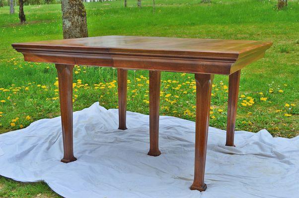 art nouveau walnut dining table1900s 2 - Walnut Dining Table