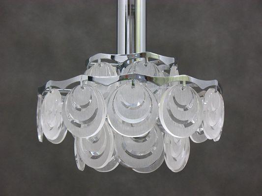 Vintage italian ceiling lamp 1970s 2
