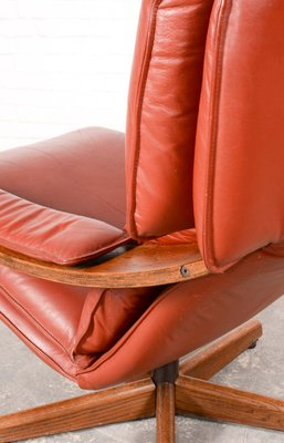 Fauteuil Relax Pivotant Mid Century Danemark en vente sur Pamono