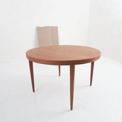 Mesa de comedor vintage de chapa de teca de Kai Kristiansen en venta ...