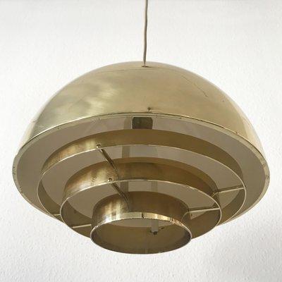 Mid Century Modern Brass Dome Pendant Lamp From Vereinigte Werkstätten 2